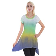 Ombre Short Sleeve Side Drop Tunic