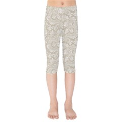 Floral Pattern Kids  Capri Leggings  by ValentinaDesign