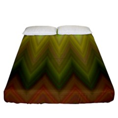 Zig Zag Chevron Classic Pattern Fitted Sheet (california King Size)