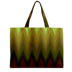 Zig Zag Chevron Classic Pattern Zipper Mini Tote Bag