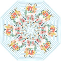 Watercolor Bouquet Floral White Straight Umbrellas by Nexatart