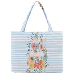 Watercolor Bouquet Floral White Mini Tote Bag by Nexatart