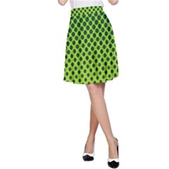 Halftone Circle Background Dot A Line Skirt by Nexatart
