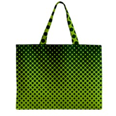 Halftone Circle Background Dot Zipper Mini Tote Bag by Nexatart