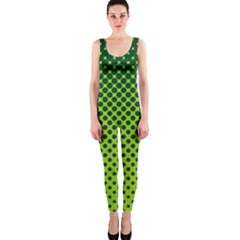 Halftone Circle Background Dot Onepiece Catsuit by Nexatart