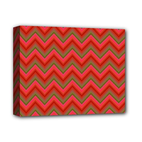 Background Retro Red Zigzag Deluxe Canvas 14  X 11