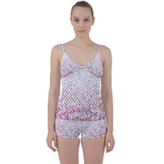 Pattern Square Background Diagonal Tie Front Two Piece Tankini by Nexatart