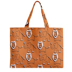 Lion Pattern Wallpaper Vector Zipper Mini Tote Bag by Nexatart