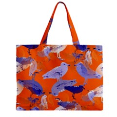 Seagull Gulls Coastal Bird Bird Zipper Mini Tote Bag by Nexatart