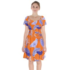 Seagull Gulls Coastal Bird Bird Short Sleeve Bardot Dress