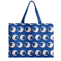 Sheep Pattern Wallpaper Vector Zipper Mini Tote Bag by Nexatart