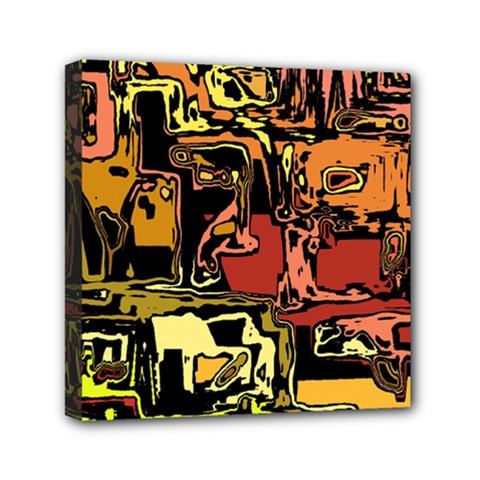 Modern Abstract 47c Mini Canvas 6  X 6  by MoreColorsinLife