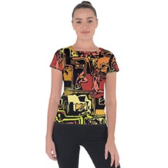 Modern Abstract 47c Short Sleeve Sports Top  by MoreColorsinLife