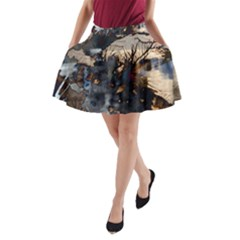 Texture Background Style  A Line Pocket Skirt by amphoto