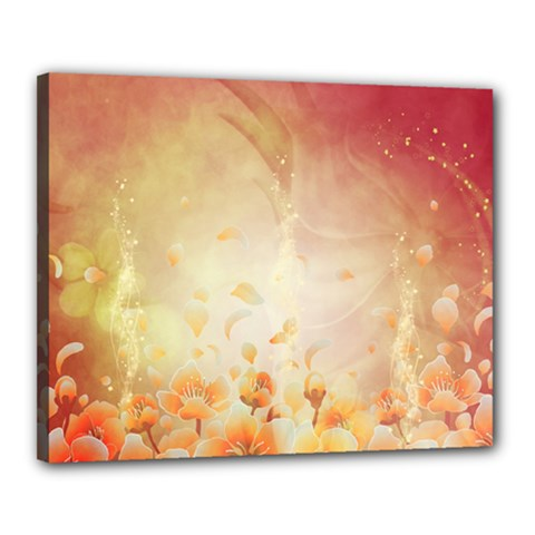 Flower Power, Cherry Blossom Canvas 20  X 16  by FantasyWorld7