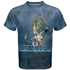 Living Art America Men s Cotton Tee 03 by livingbrushlifestyle