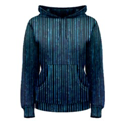 Stylish Abstract Blue Strips Women s Pullover Hoodie by gatterwe