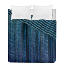 Stylish Abstract Blue Strips Duvet Cover Double Side (full/ Double Size) by gatterwe