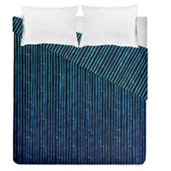 Stylish Abstract Blue Strips Duvet Cover Double Side (queen Size) by gatterwe