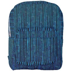 Stylish Abstract Blue Strips Full Print Backpack