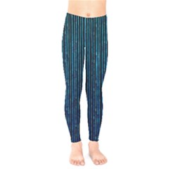 Stylish Abstract Blue Strips Kids  Legging
