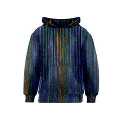 Stylish Colorful Strips Kids  Pullover Hoodie by gatterwe