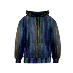 Stylish Colorful Strips Kids  Zipper Hoodie by gatterwe