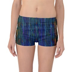 Stylish Colorful Strips Boyleg Bikini Bottoms by gatterwe