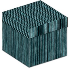 Stylish Frost Blue Strips Storage Stool 12   by gatterwe