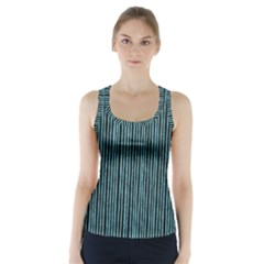 Stylish Frost Blue Strips Racer Back Sports Top by gatterwe