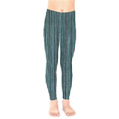 Stylish Frost Blue Strips Kids  Legging by gatterwe