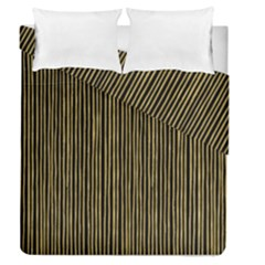 Stylish Golden Strips Duvet Cover Double Side (queen Size) by gatterwe