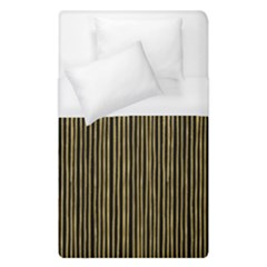 Stylish Golden Strips Duvet Cover (single Size) by gatterwe