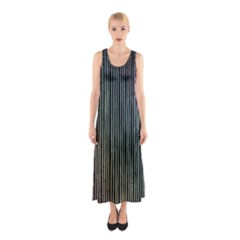 Stylish Rainbow Strips Sleeveless Maxi Dress by gatterwe