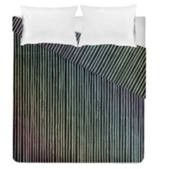 Stylish Rainbow Strips Duvet Cover Double Side (queen Size) by gatterwe