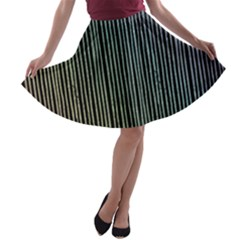 Stylish Rainbow Strips A Line Skater Skirt by gatterwe