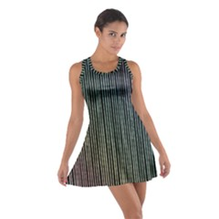 Stylish Rainbow Strips Cotton Racerback Dress by gatterwe