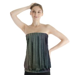 Stylish Rainbow Strips Strapless Top by gatterwe