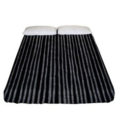 Stylish Silver Strips Fitted Sheet (king Size) by gatterwe
