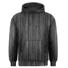 Stylish Silver Strips Men s Pullover Hoodie by gatterwe