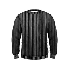 Stylish Silver Strips Kids  Sweatshirt by gatterwe