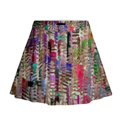 Colorful Shaky Paint Strokes                                Mini Flare Skirt