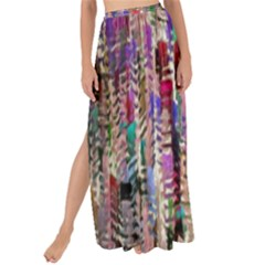 Colorful Shaky Paint Strokes                            Maxi Chiffon Tie-up Sarong by LalyLauraFLM