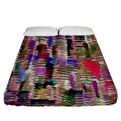 Colorful Shaky Paint Strokes                             Fitted Sheet (king Size) by LalyLauraFLM