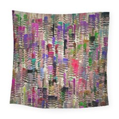 Colorful Shaky Paint Strokes                             Square Tapestry by LalyLauraFLM