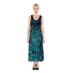 Mermaid Sleeveless Maxi Dress by treegold