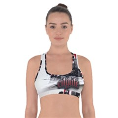 City Style Life Constituting  Cross Back Sports Bra by amphoto