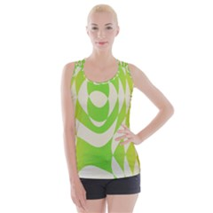 Green Shapes Canvas                             Criss Cross Back Tank Top