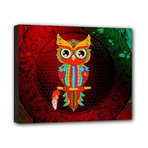 Cute Owl, Mandala Design Canvas 10  X 8  by FantasyWorld7