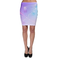 Wings Drawing Soft Background  Bodycon Skirt